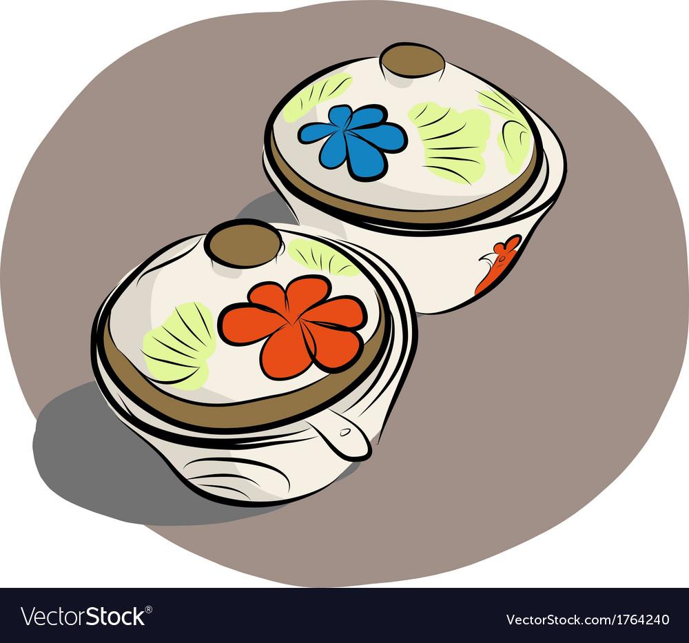 Ceramic sauce dish vector | Price: 1 Credit (USD $1)