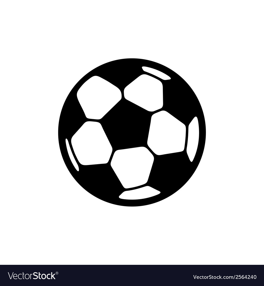 Football ball icon vector | Price: 1 Credit (USD $1)