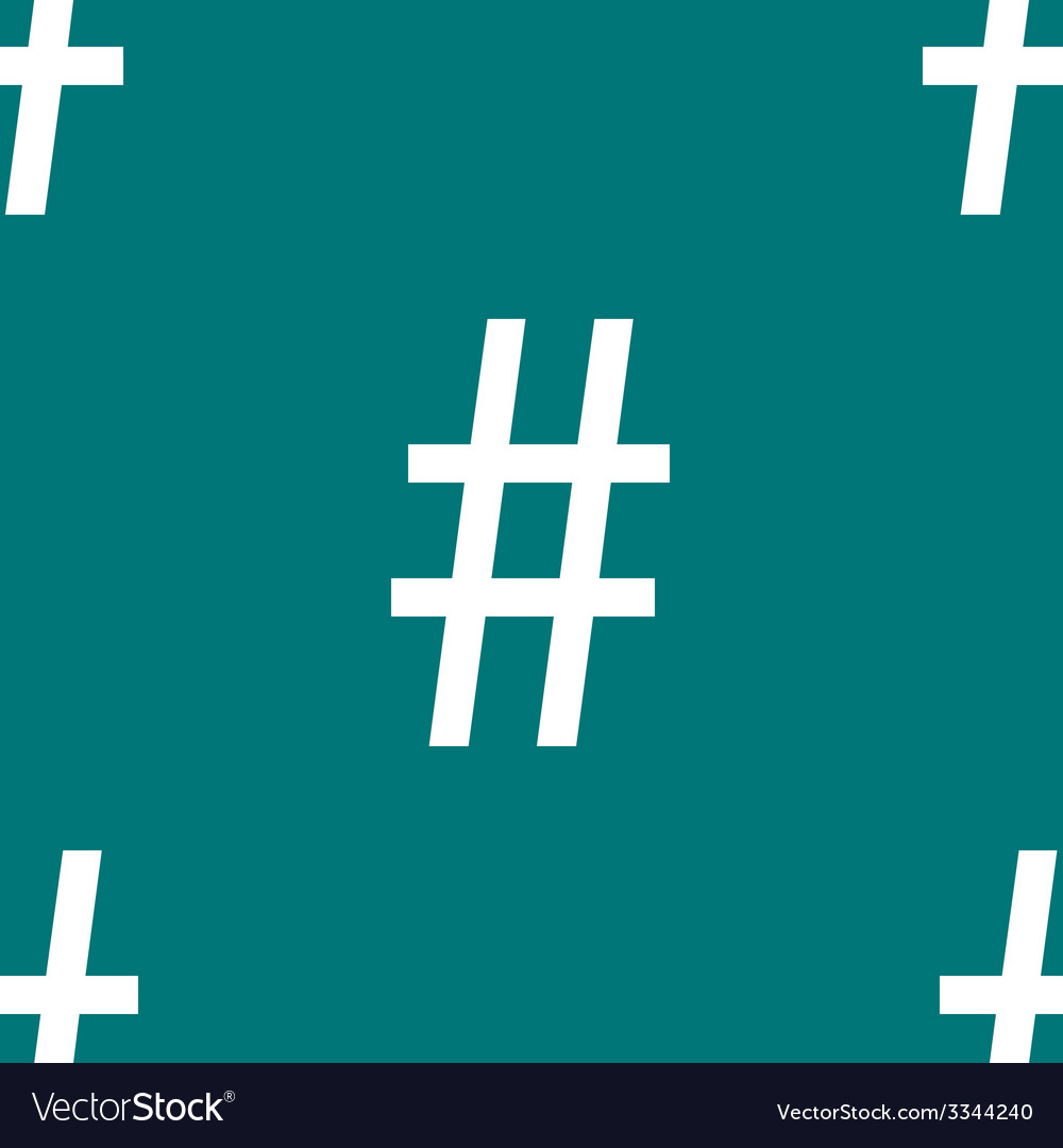 Hesh tag web icon flat design seamless pattern vector   Price: 1 Credit (USD $1)
