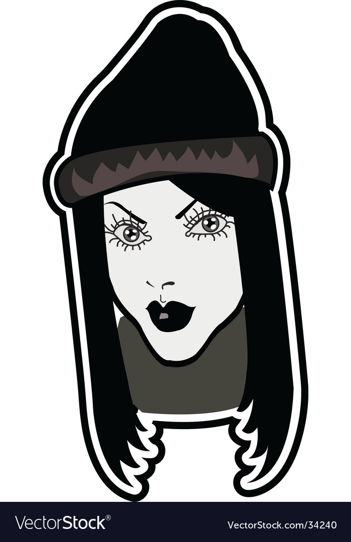 Hip girl vector | Price: 1 Credit (USD $1)