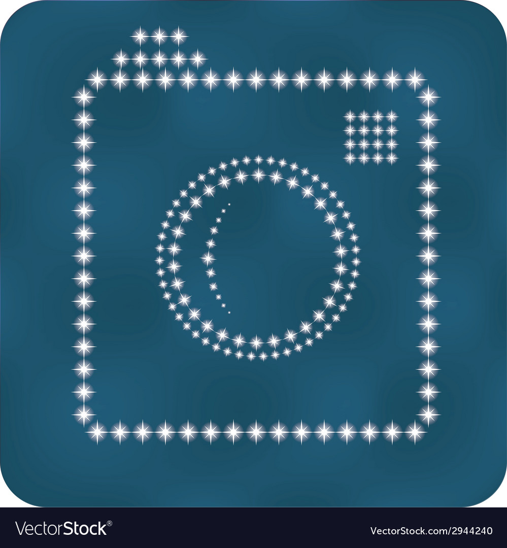Hipster photo or camera icon as stars vector | Price: 1 Credit (USD $1)