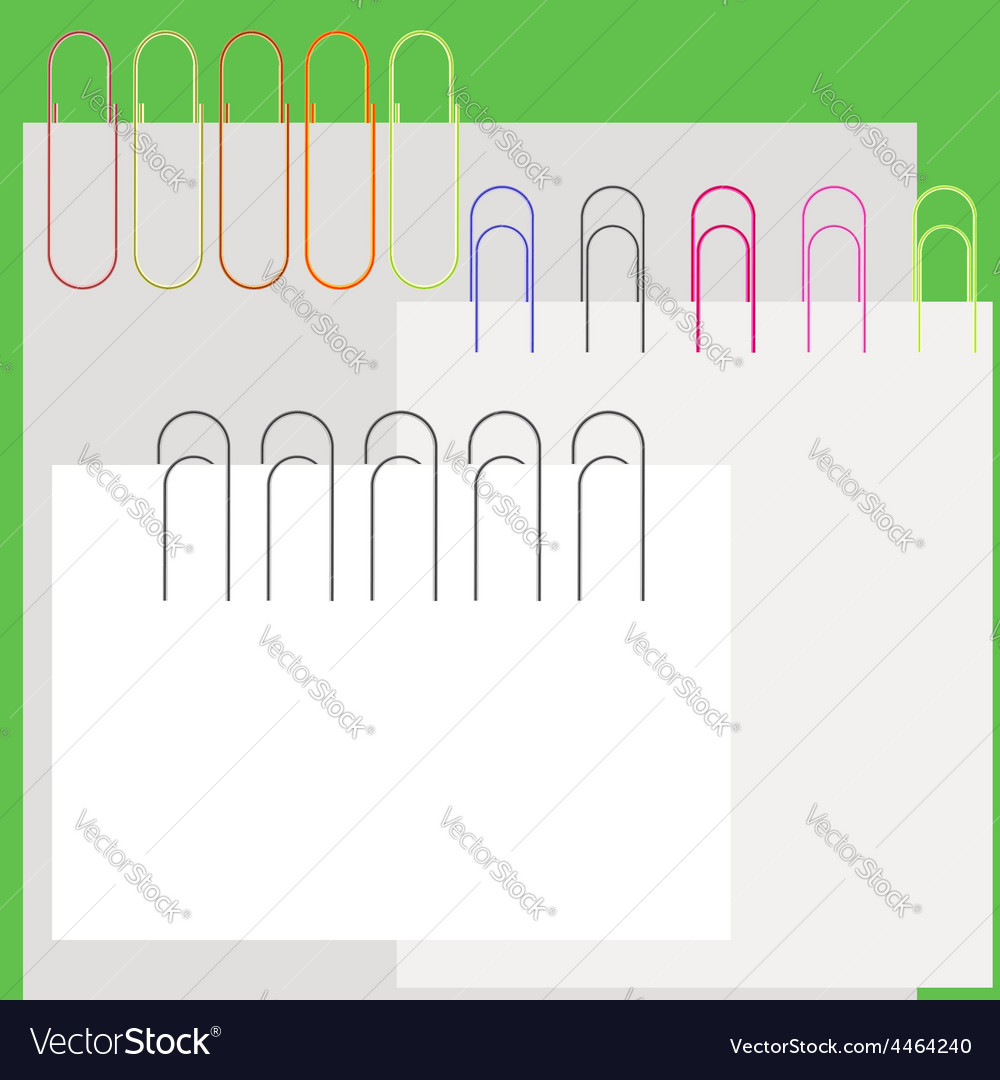 Paper clips vector | Price: 1 Credit (USD $1)