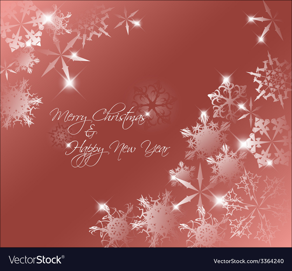 Red abstract christmas background vector | Price: 1 Credit (USD $1)