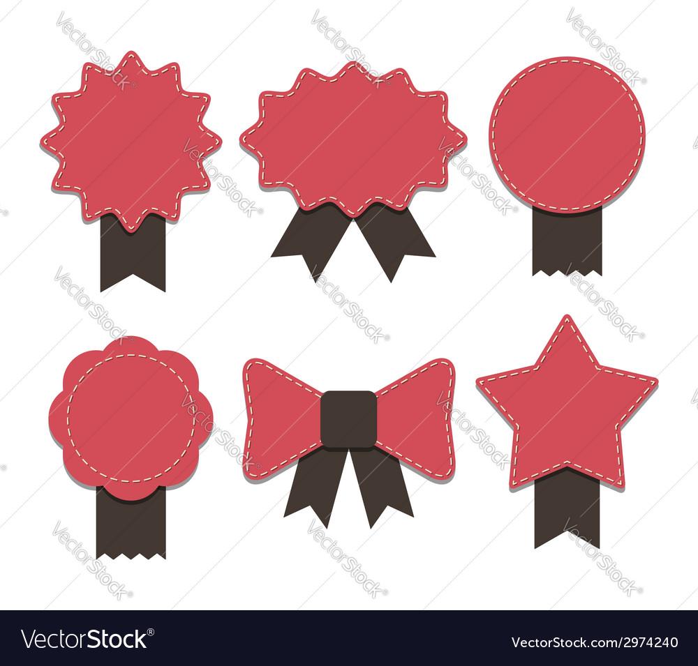Ribbon badge vector | Price: 1 Credit (USD $1)
