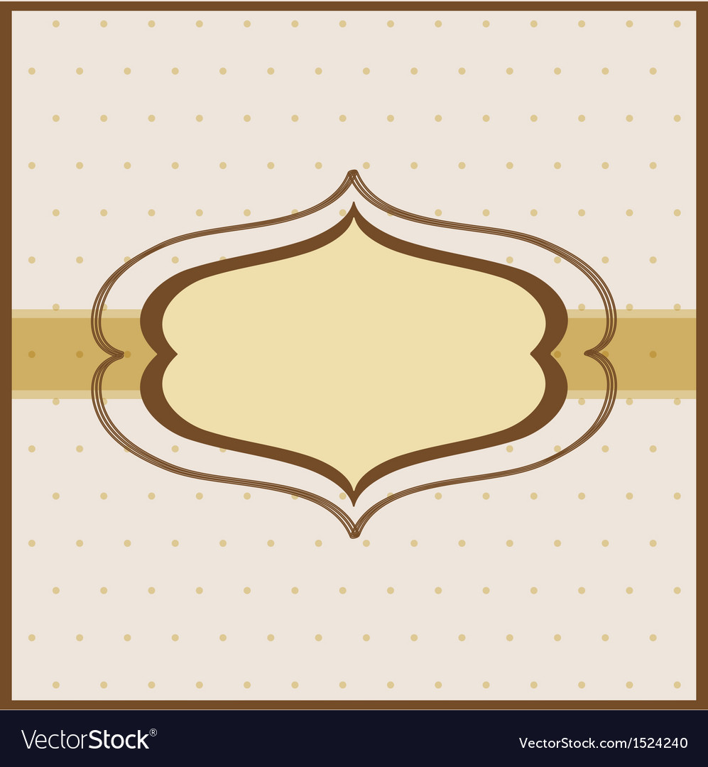 Vintage frame on beautiful background vector | Price: 1 Credit (USD $1)