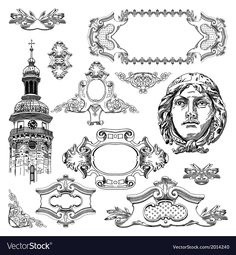 Vintage sketch ornamental design element vector | Price: 3 Credit (USD $3)