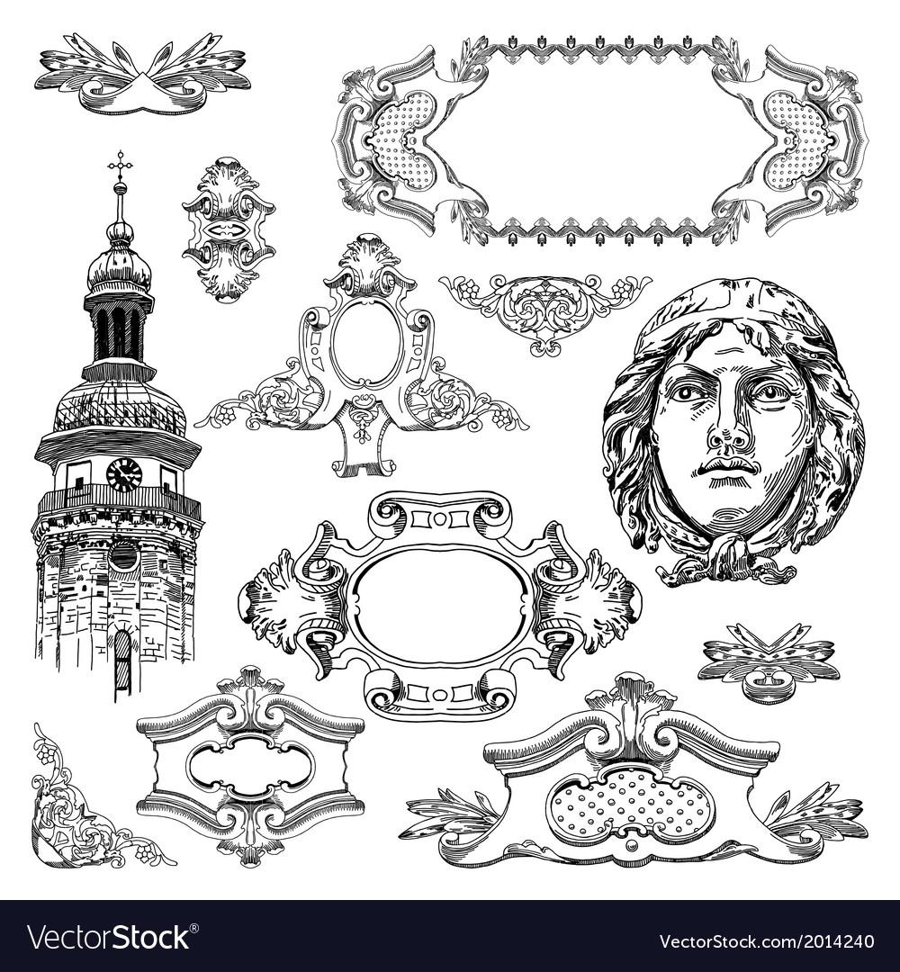 Vintage sketch ornamental design element vector | Price: 3 Credit (USD $3)