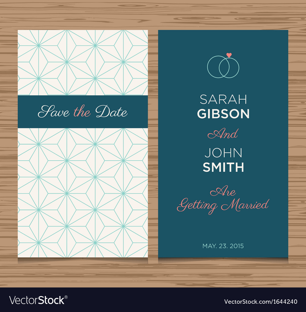Wedding card pattern green 01 vector | Price: 1 Credit (USD $1)