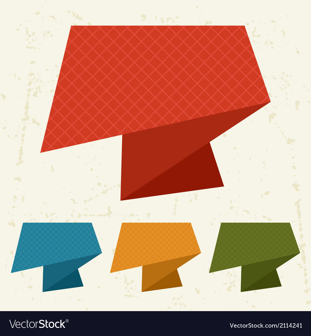 Abstract retro origami banners and speech bubbles vector | Price: 1 Credit (USD $1)