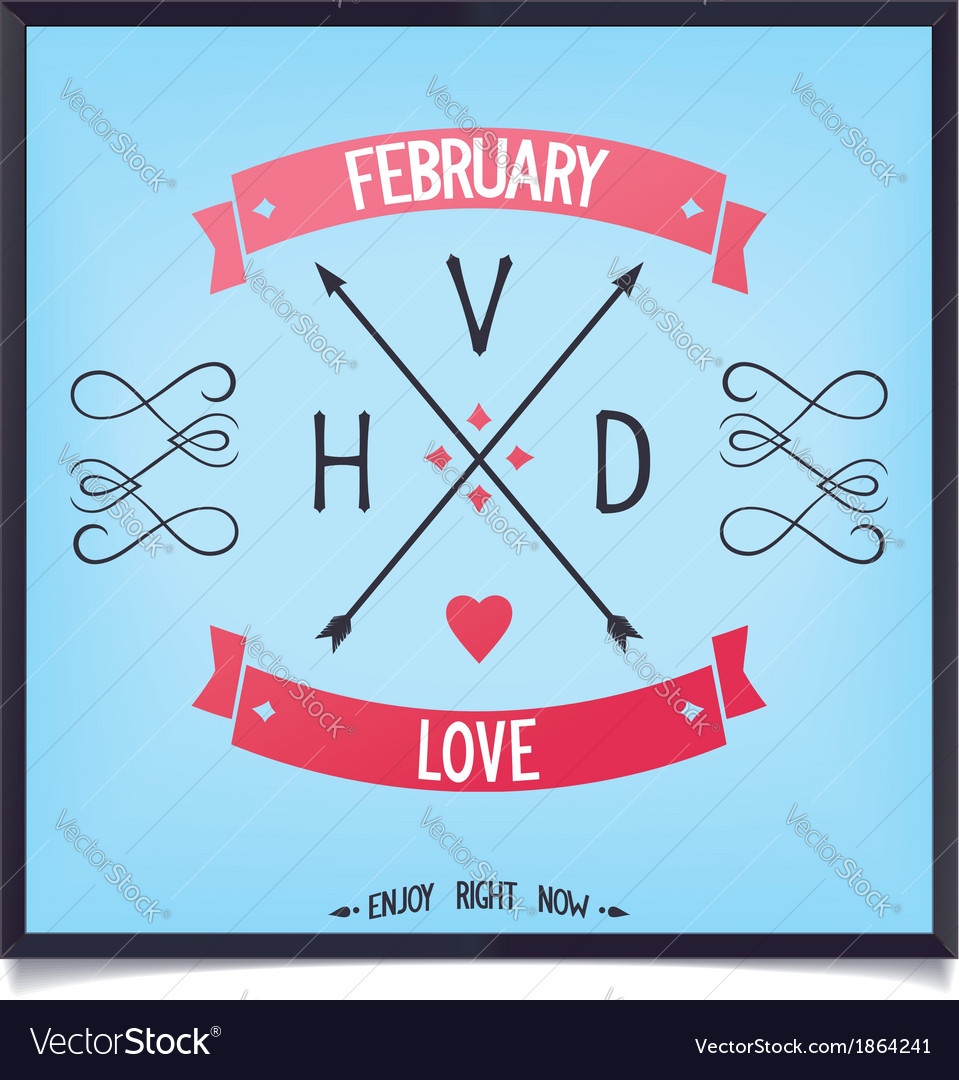 Arrows with capital letters valentines day vector | Price: 1 Credit (USD $1)