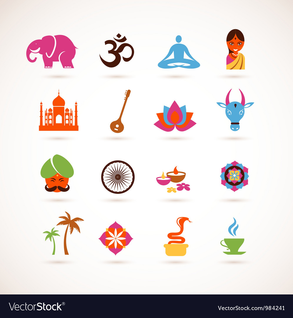 Collection of india icons vector | Price: 3 Credit (USD $3)