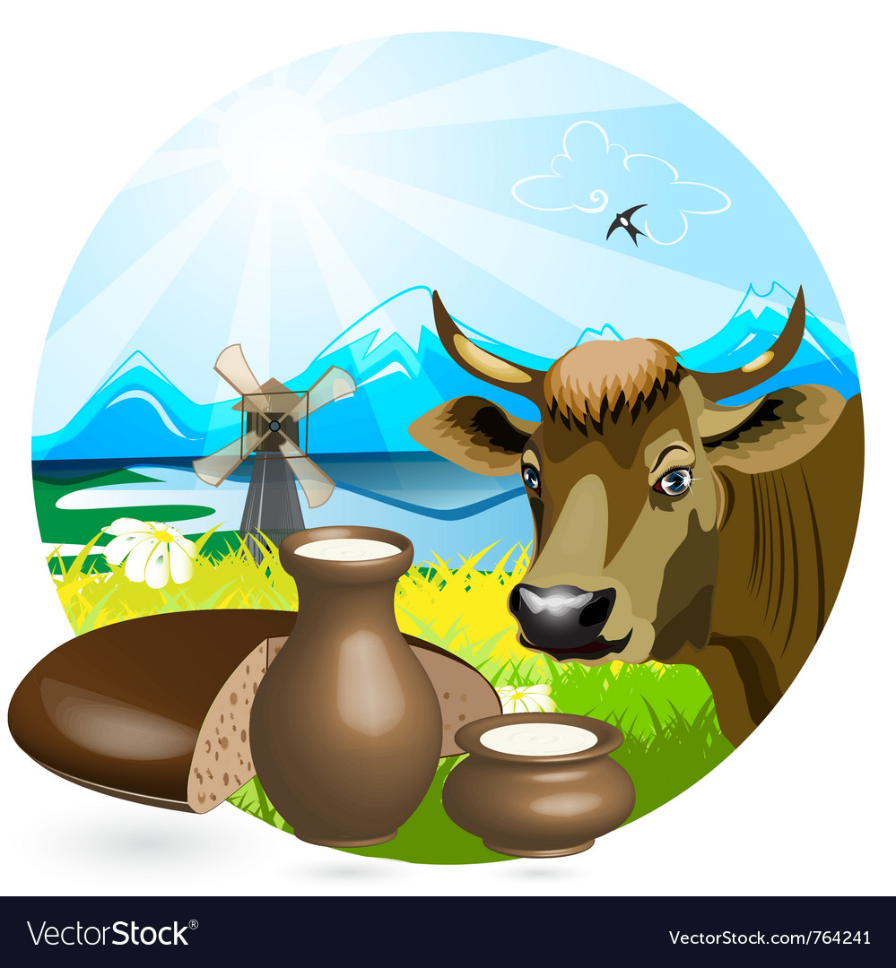 Cow pot vector | Price: 3 Credit (USD $3)