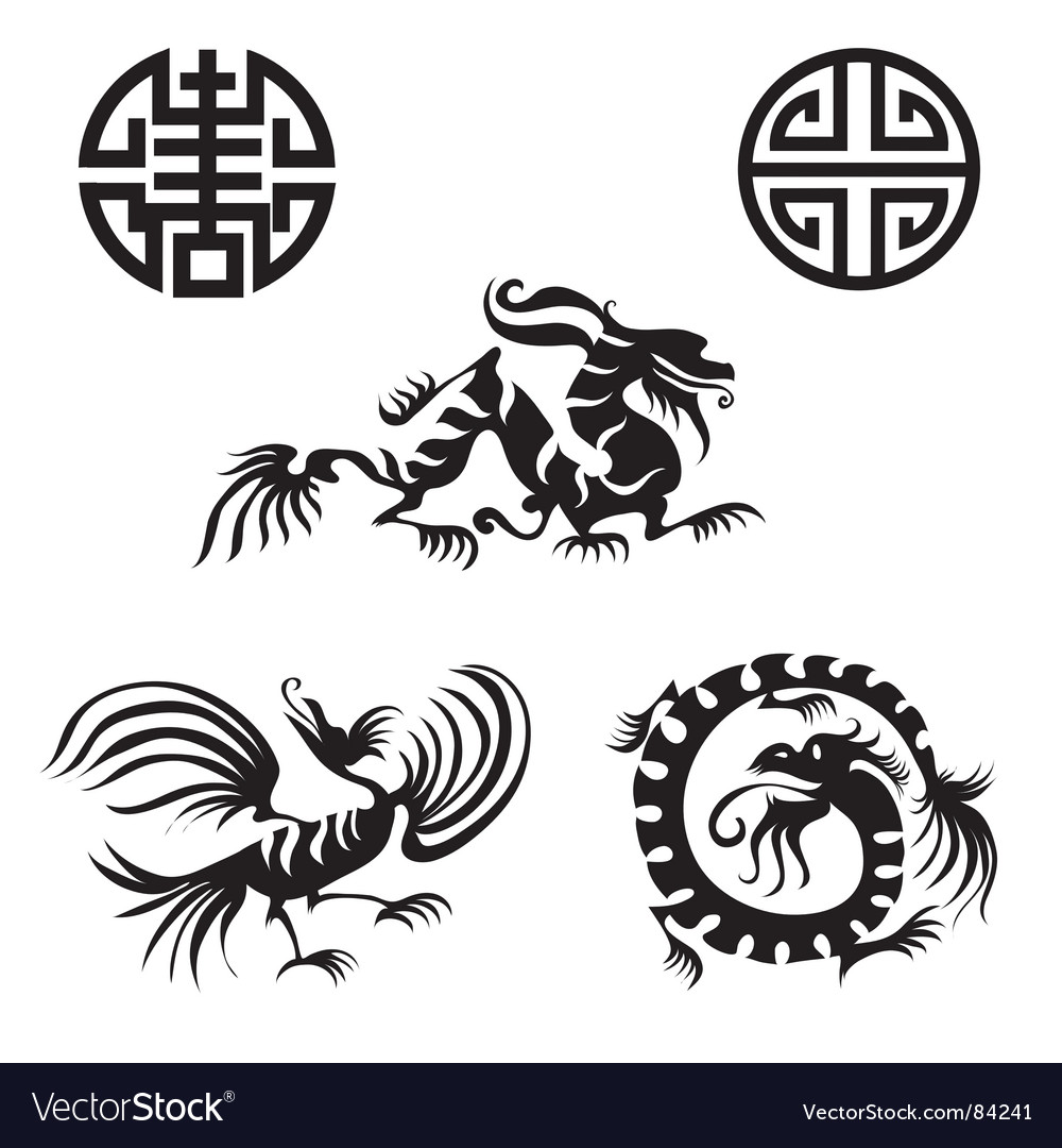 Dragon design elements vector | Price: 1 Credit (USD $1)