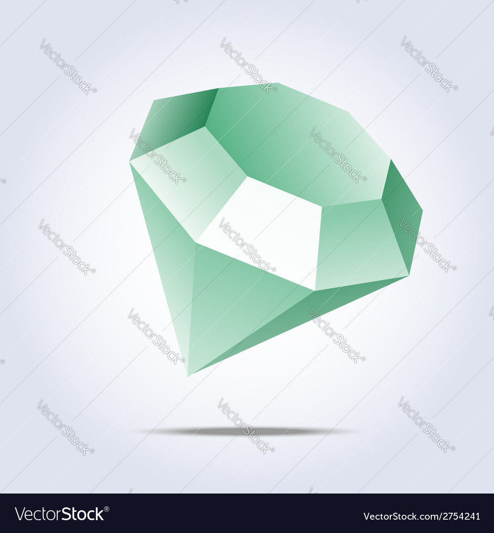 Emerald icon on gray background vector | Price: 1 Credit (USD $1)