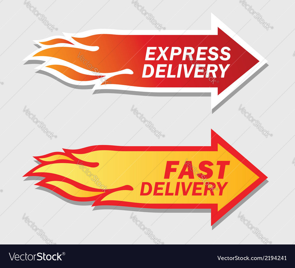 Express and fast delivery symbols vector | Price: 1 Credit (USD $1)