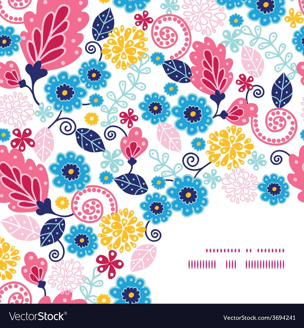 Fairytale flowers frame corner pattern vector   Price: 1 Credit (USD $1)