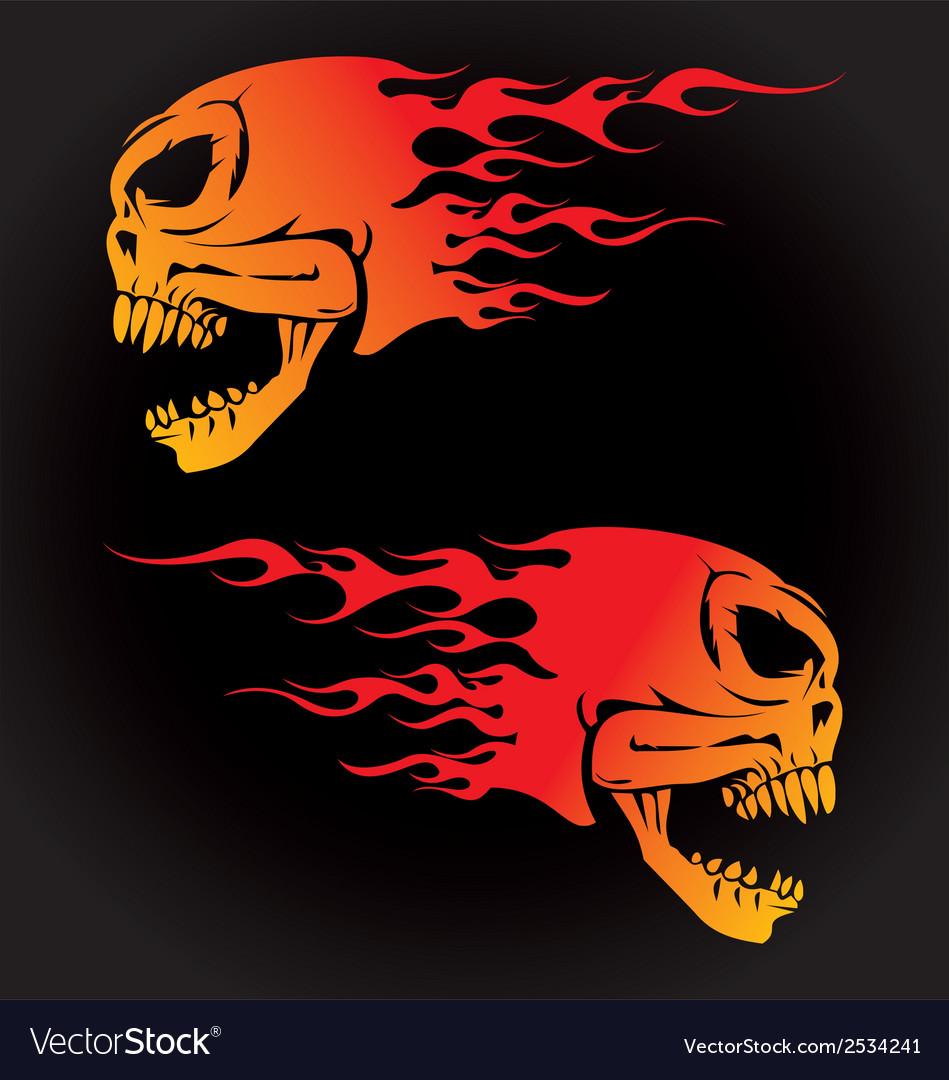 Fire skulls vector | Price: 1 Credit (USD $1)