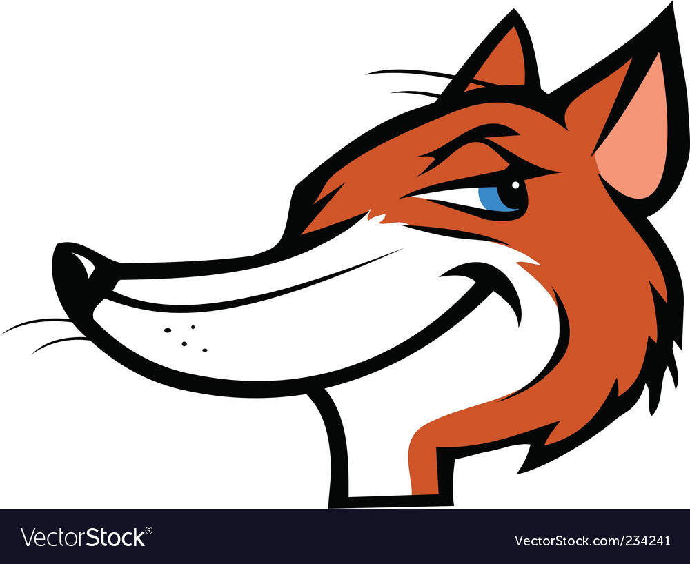 Fox mascot vector | Price: 1 Credit (USD $1)