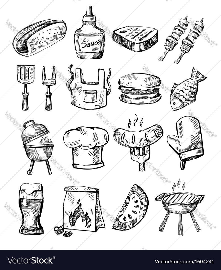 Hand draw barbecue vector | Price: 1 Credit (USD $1)