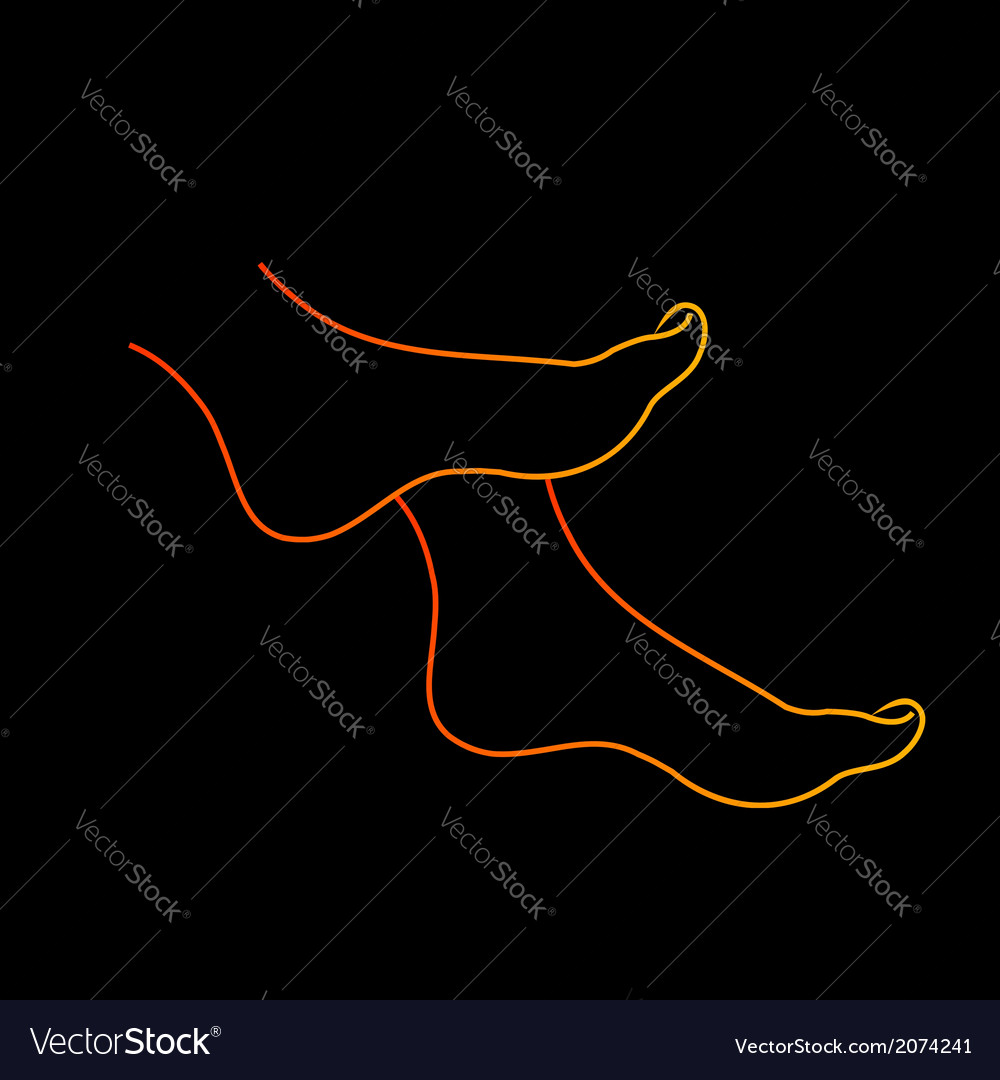Isolated feet diagram vector | Price: 1 Credit (USD $1)