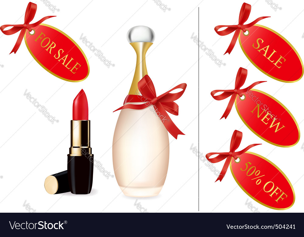 Lipstick partum with card discount vector | Price: 1 Credit (USD $1)