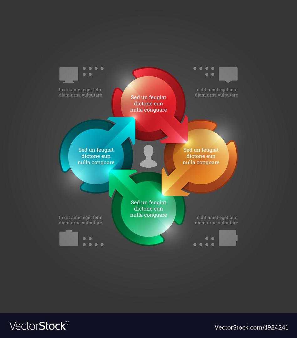 Modern infographics 3d circle diagram vector   Price: 1 Credit (USD $1)