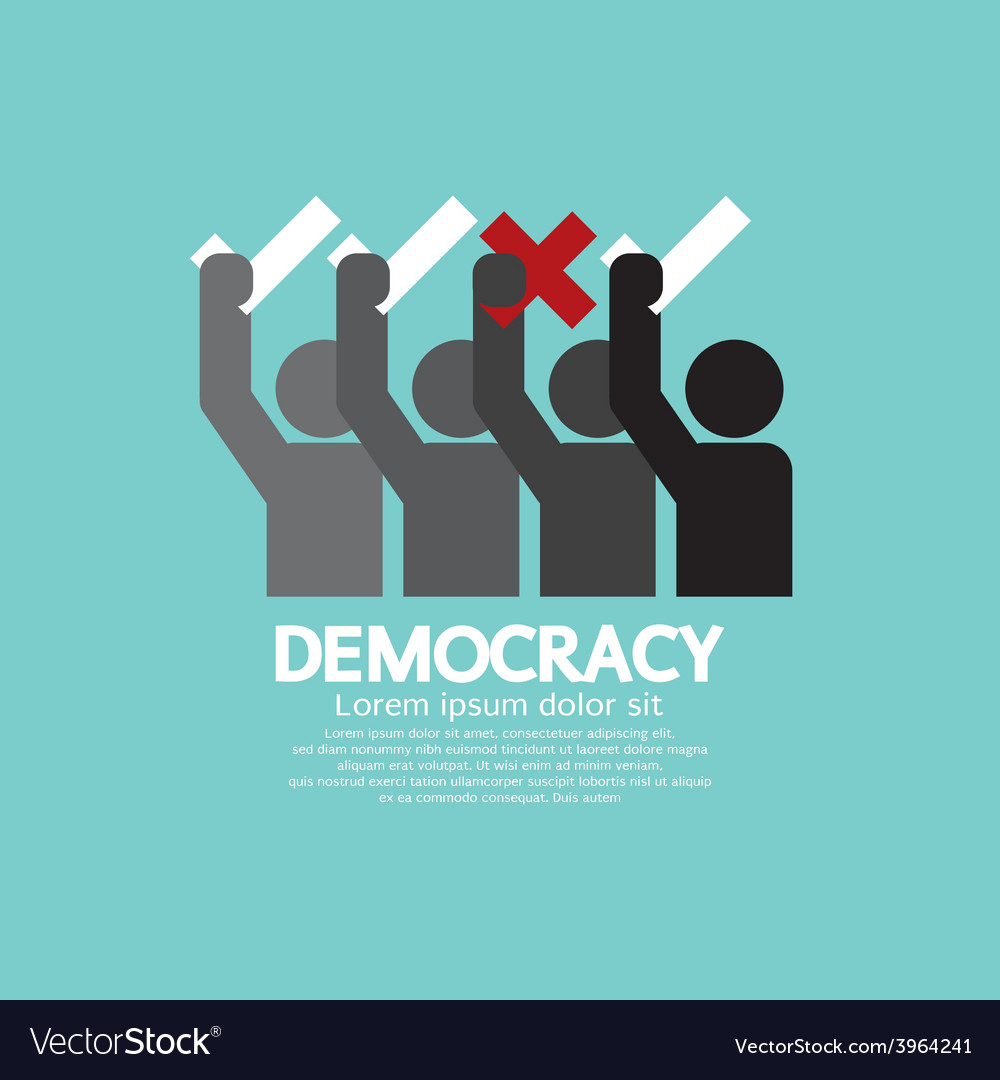 People showing vote yes and no democracy concept vector | Price: 1 Credit (USD $1)