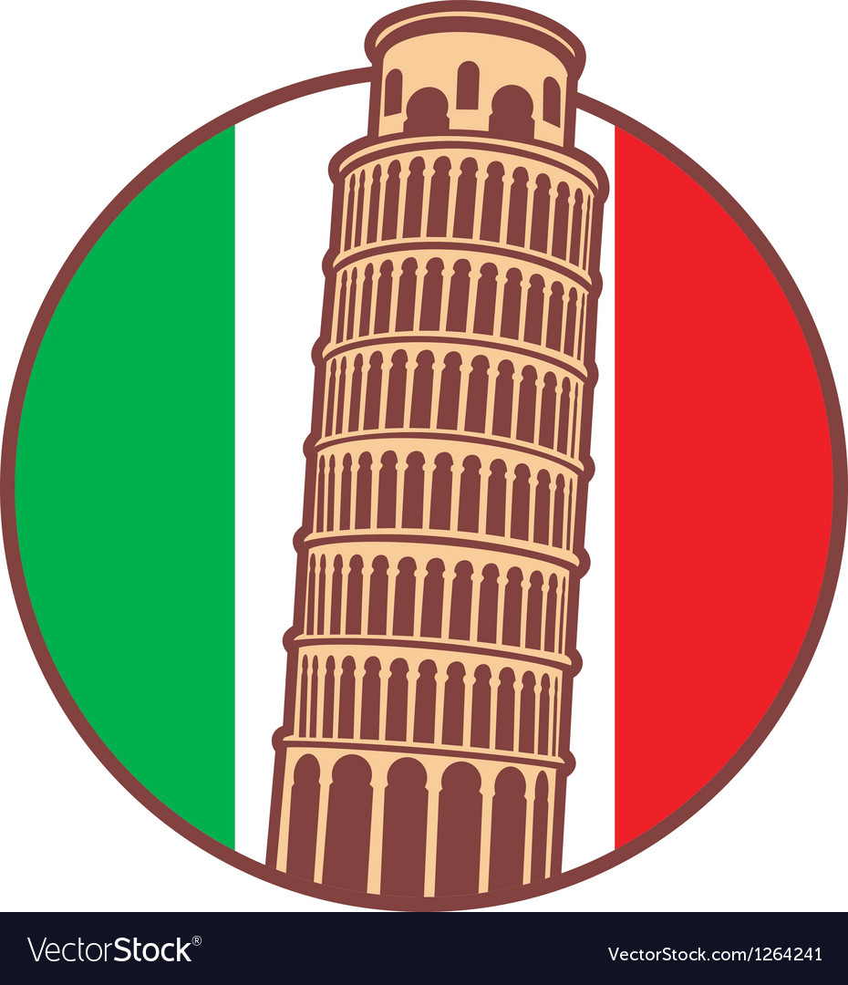 Pisa tower vector | Price: 1 Credit (USD $1)