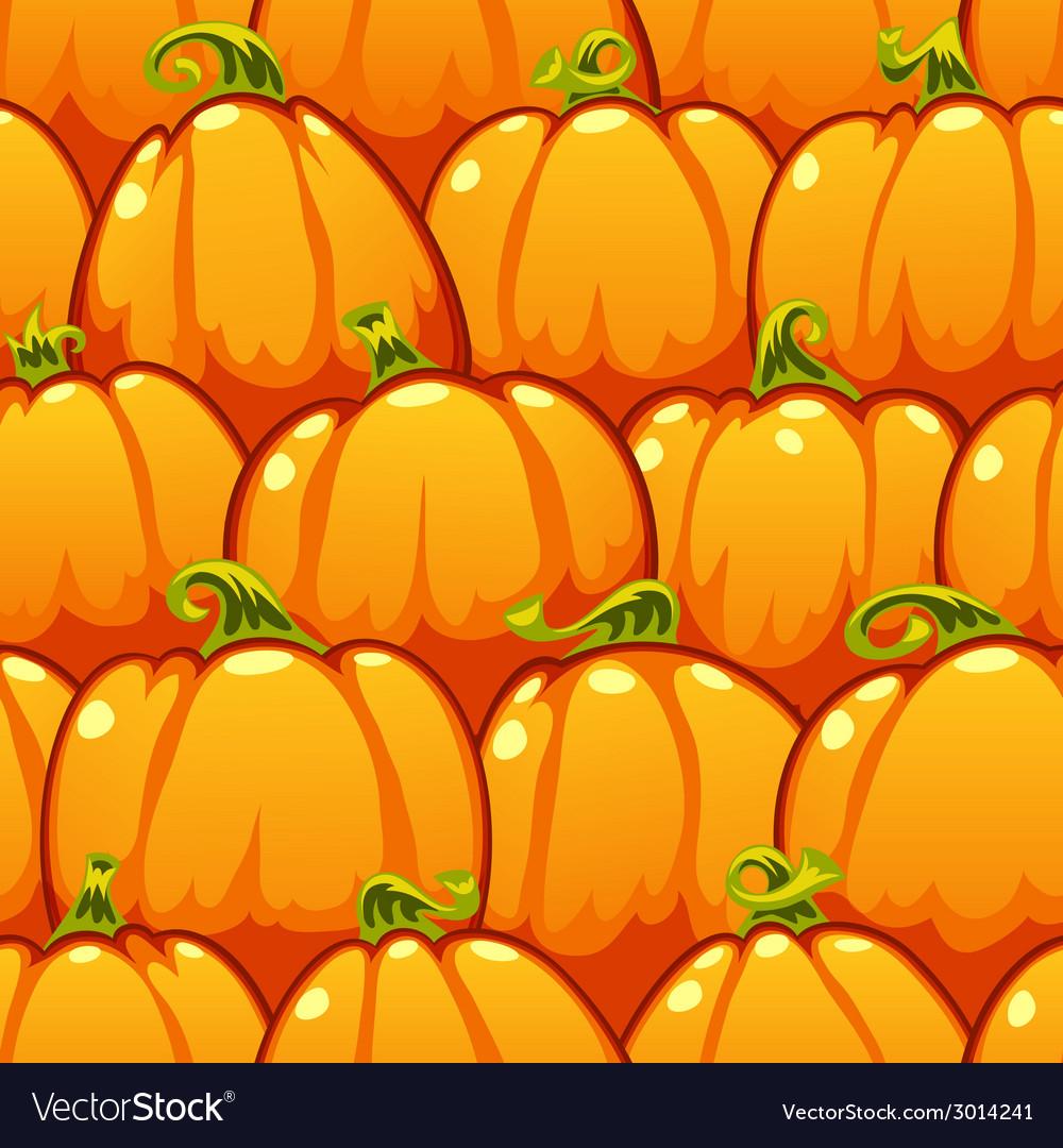 Pumpkins seamless pattern vector | Price: 1 Credit (USD $1)