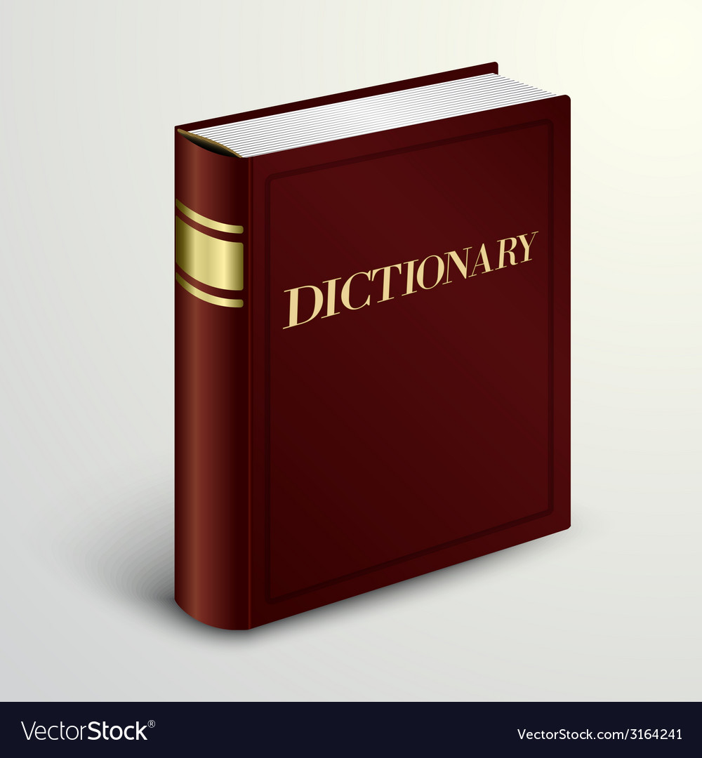 Red dictionary book vector | Price: 1 Credit (USD $1)
