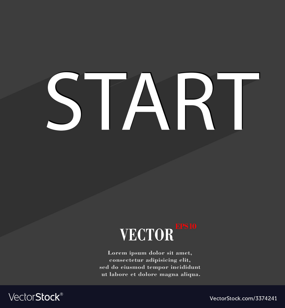 Start icon symbol flat modern web design with long vector | Price: 1 Credit (USD $1)