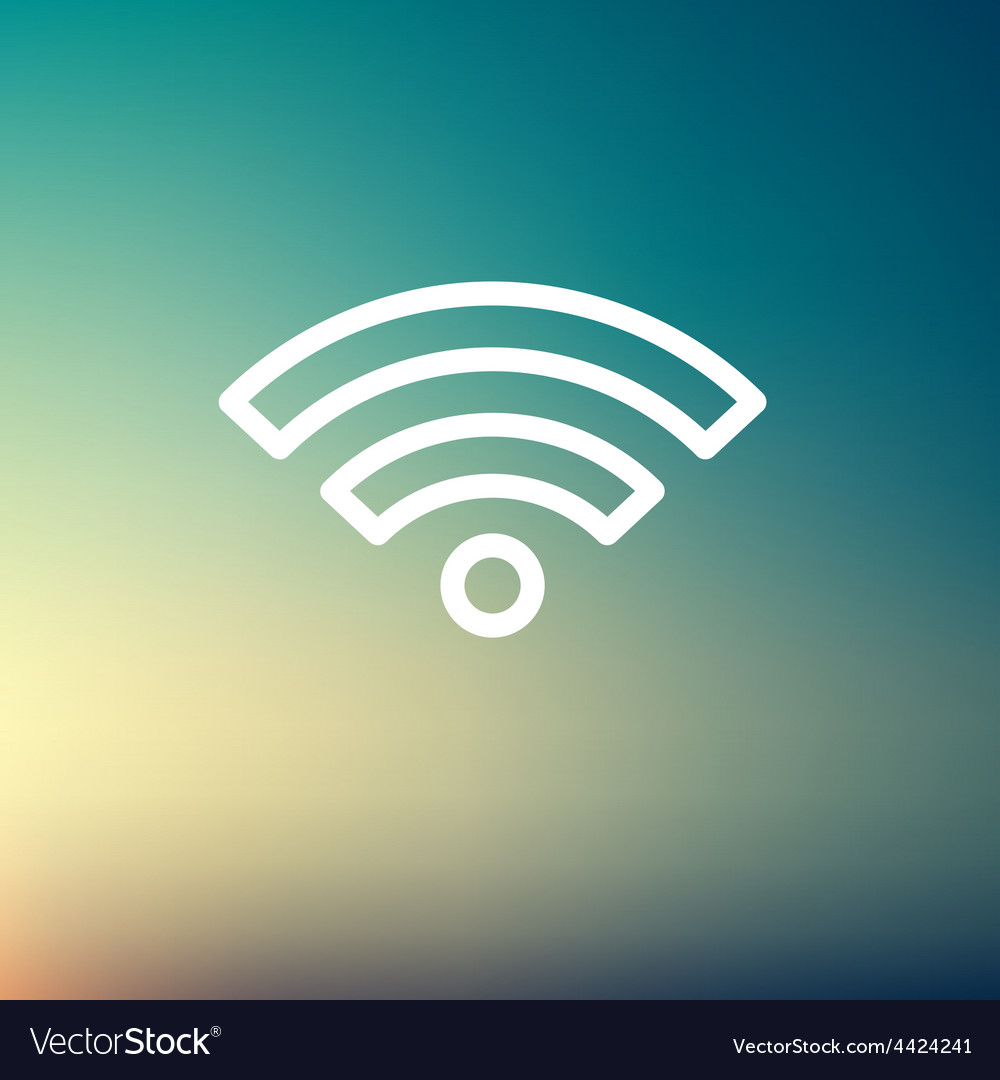 Wifi thin line icon vector | Price: 1 Credit (USD $1)