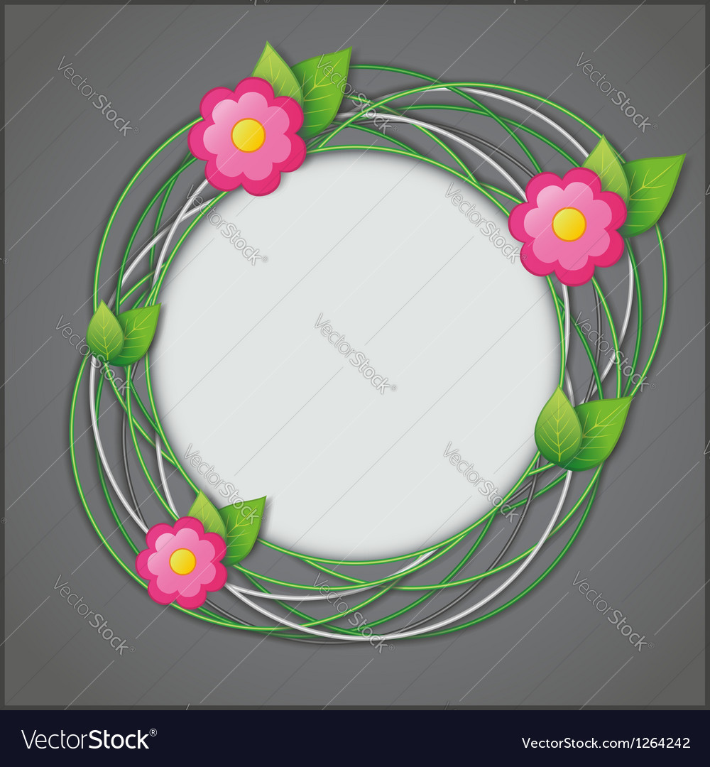 Abstract creative floral background vector | Price: 1 Credit (USD $1)