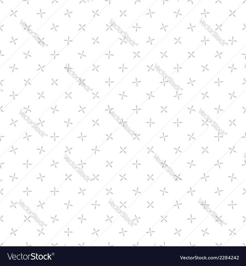 Background crosses seamless pattern gray and white vector | Price: 1 Credit (USD $1)