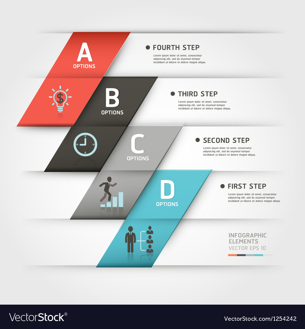 Business step infographics elements vector | Price: 1 Credit (USD $1)