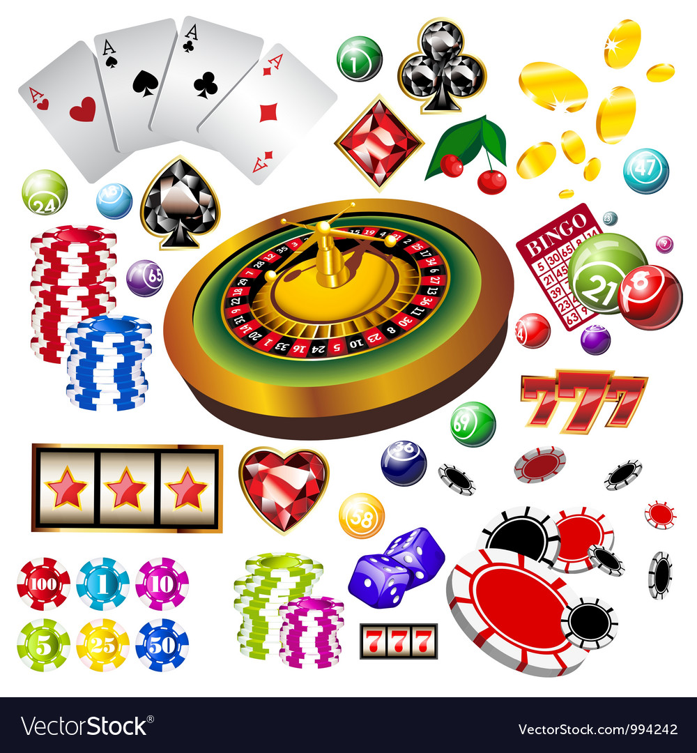 Casino set vector | Price: 5 Credit (USD $5)
