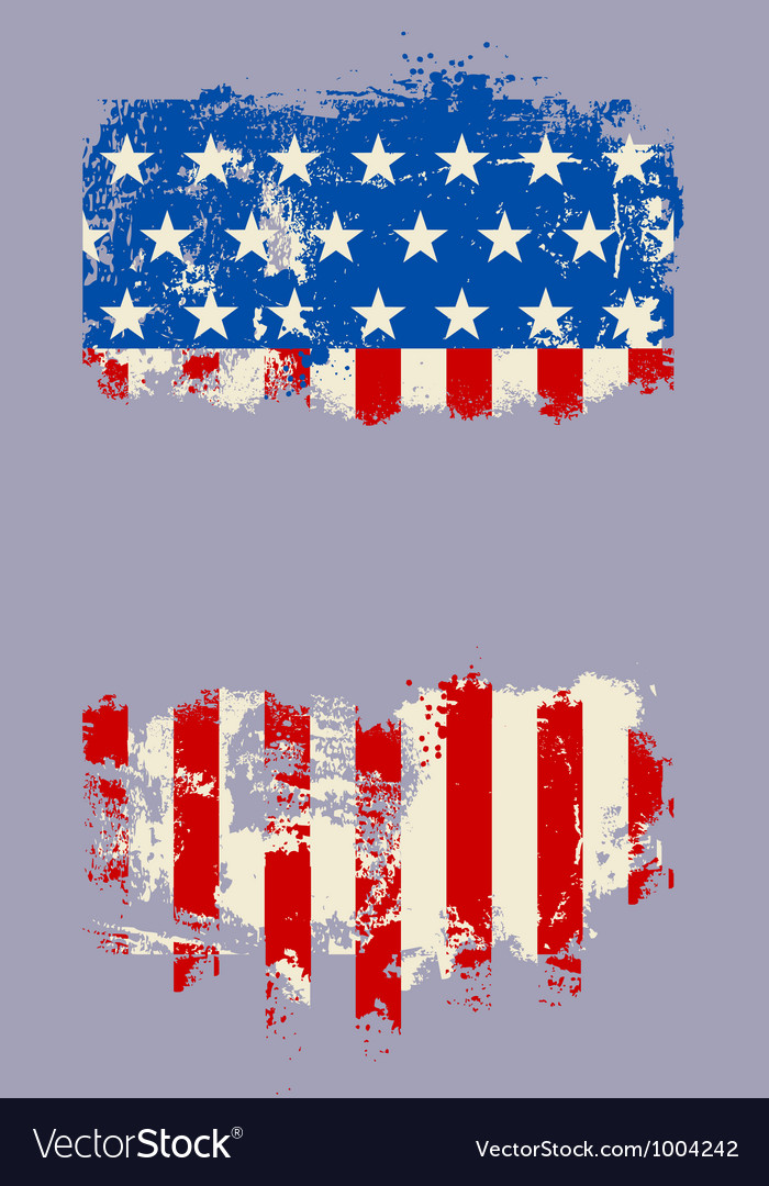 Grunge usa flag banner vector | Price: 1 Credit (USD $1)
