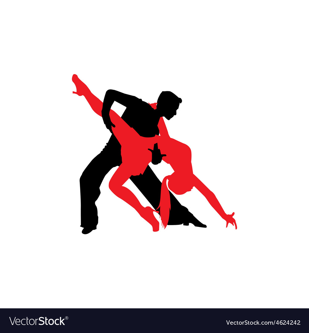 Latin dancers silhouettes vector | Price: 1 Credit (USD $1)