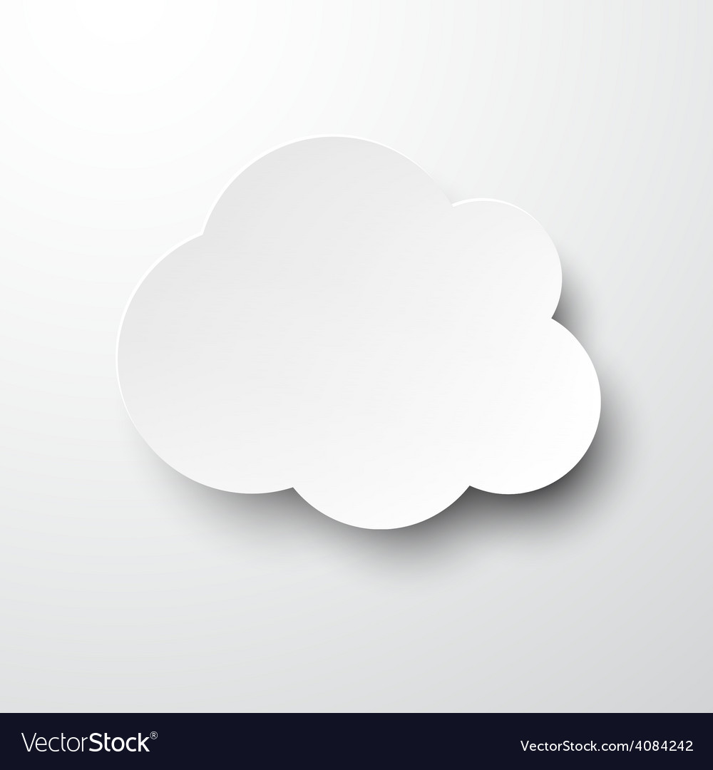 Paper white cloud note vector | Price: 1 Credit (USD $1)