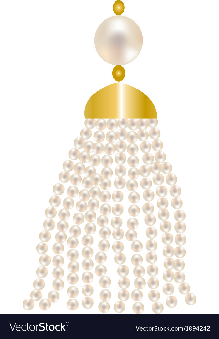 Pearl pendant vector | Price: 1 Credit (USD $1)