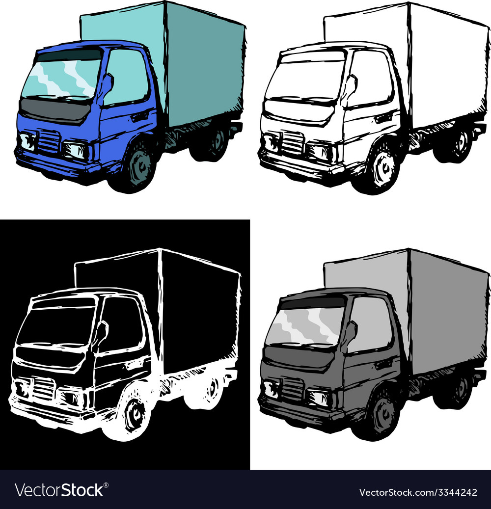 Small truck vector | Price: 1 Credit (USD $1)