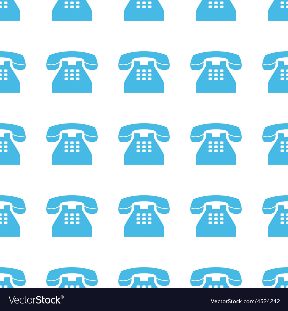 Unique telephone seamless pattern vector | Price: 1 Credit (USD $1)