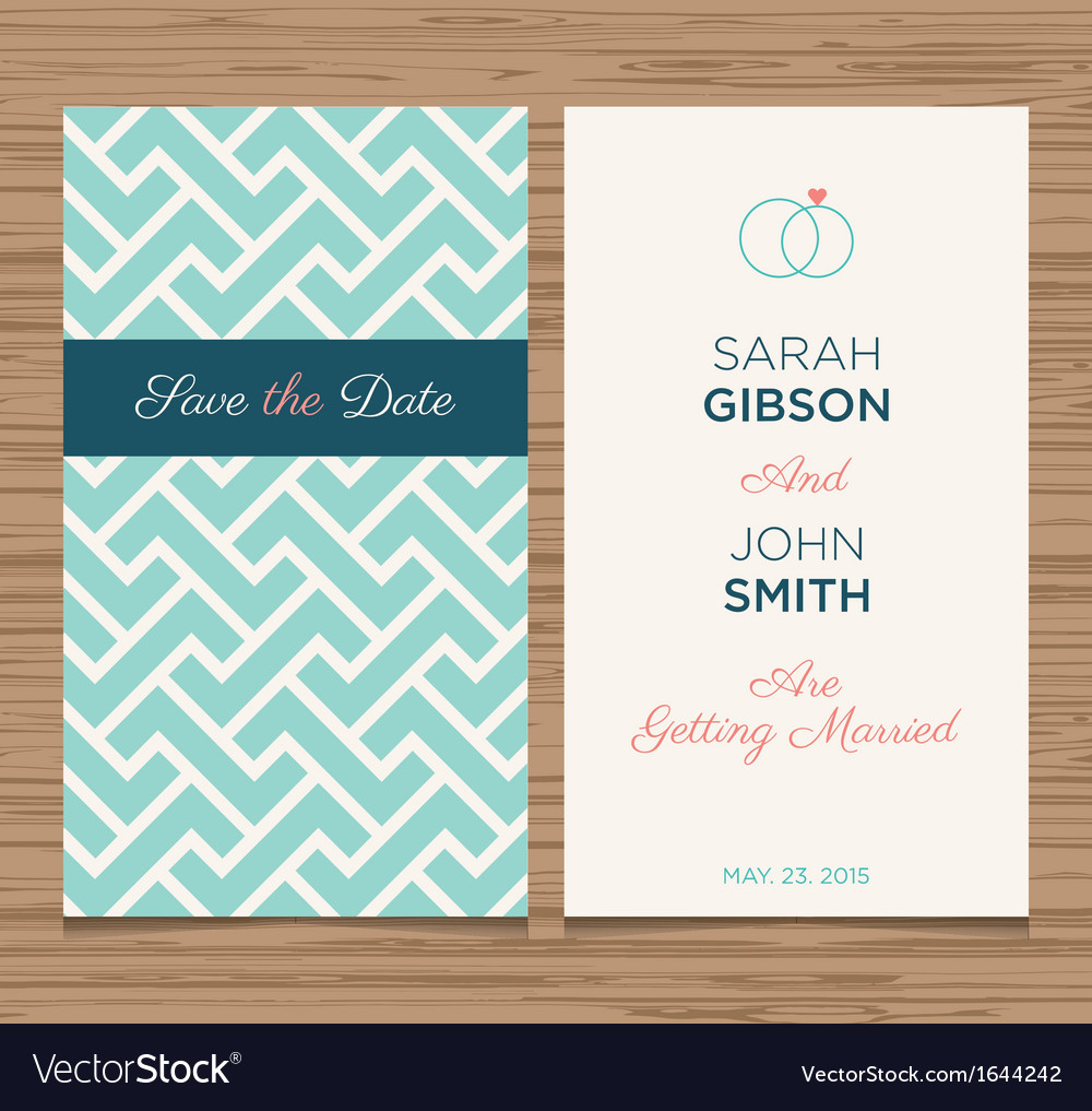 Wedding card pattern green 02 vector | Price: 1 Credit (USD $1)