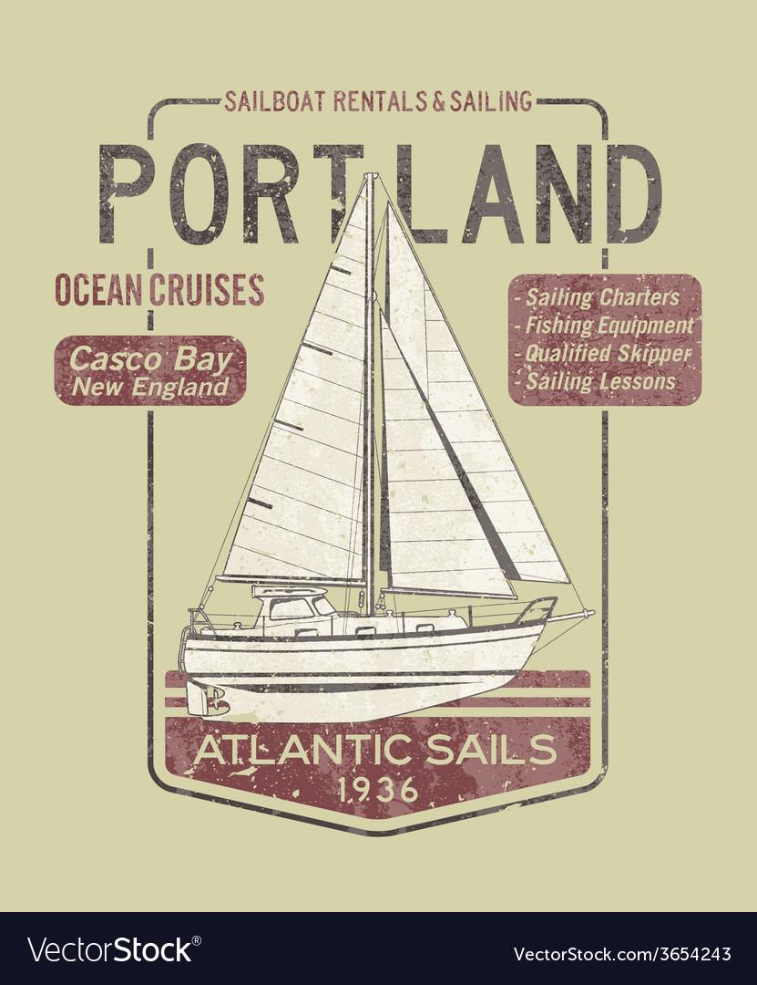 Atlantic ocean sailing vector | Price: 1 Credit (USD $1)