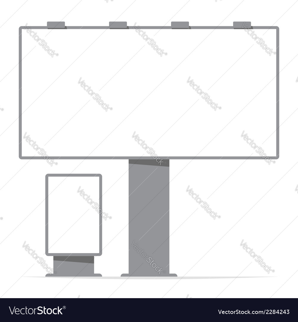 Billboard board and citylight screen contour vector | Price: 1 Credit (USD $1)