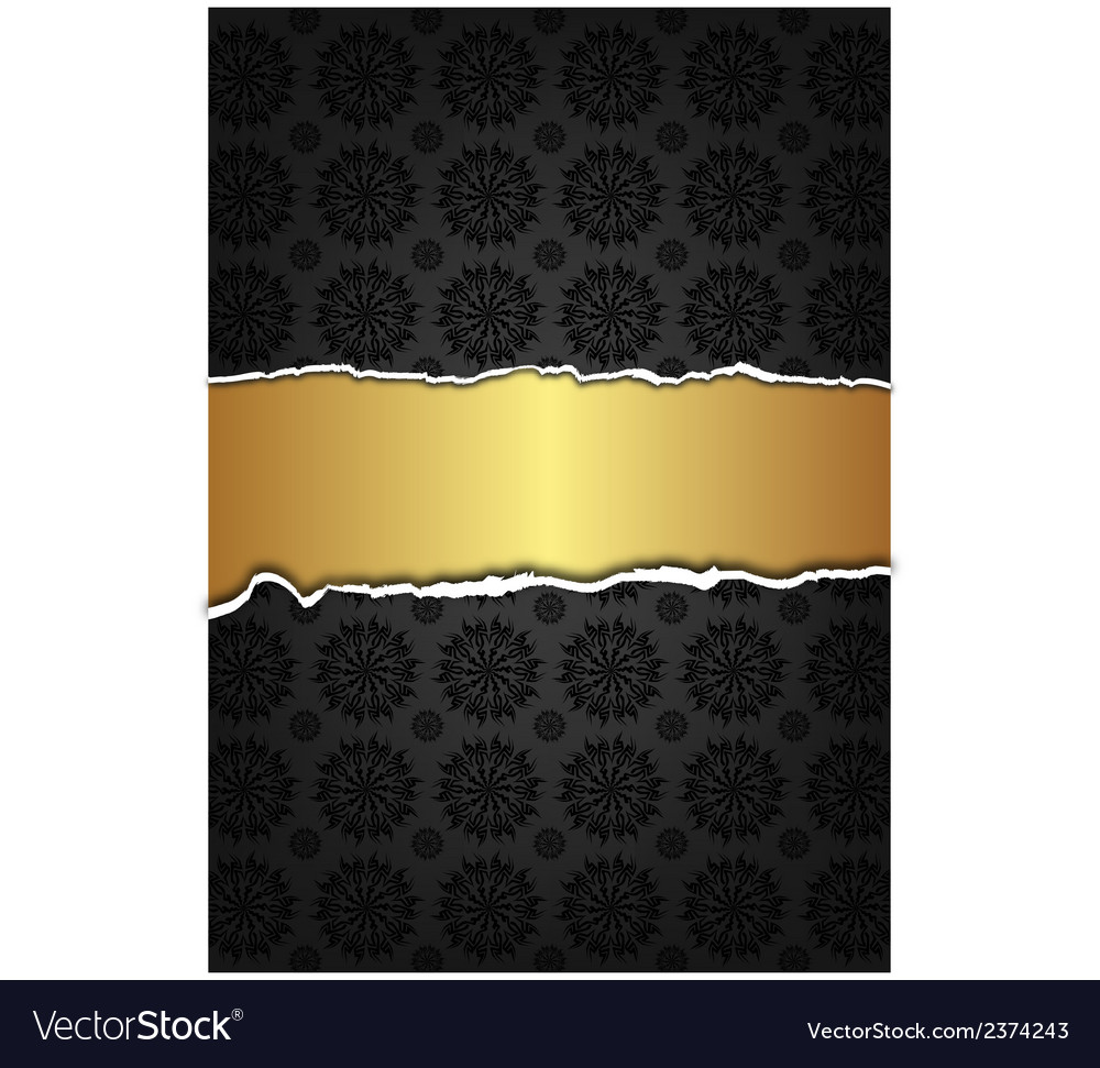 Black abstract texture and golden label vector | Price: 1 Credit (USD $1)