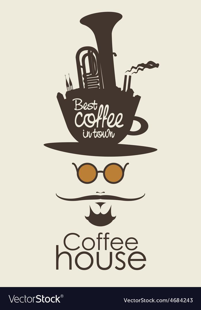 Coffee man vector | Price: 1 Credit (USD $1)