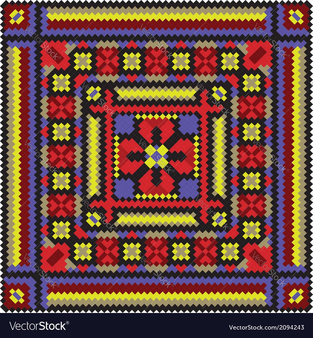 Ethnic ukrainian mosaic vector | Price: 1 Credit (USD $1)