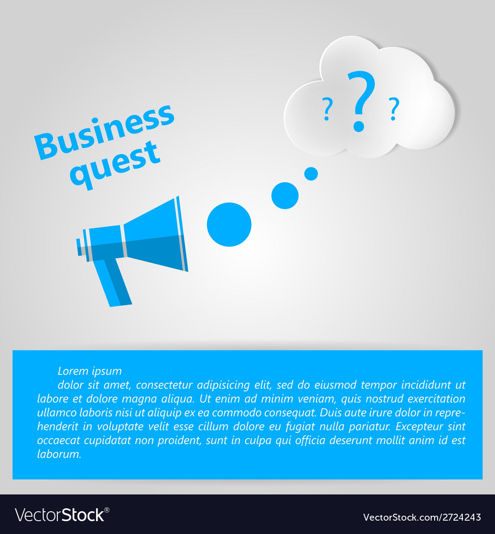 Flat for business quest vector | Price: 1 Credit (USD $1)