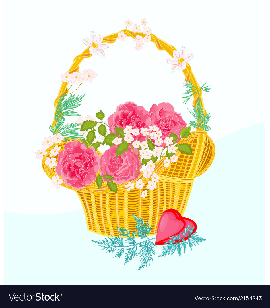 Flower-cupcake-greeting vector | Price: 1 Credit (USD $1)